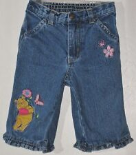 DISNEY Girl Size 6 Months Blue Front Zipper Denim Jeans