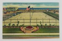Postcard Linen Fox Park Tennis Ocean Boardwalk Wildwood by the Sea New Jersey