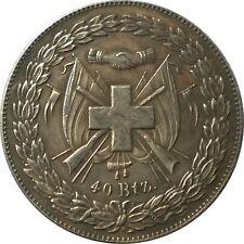 40 Batzen Schweizer Franken SFR Swiss Coin 1847 Taler Münze Schützenfest Glarus