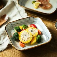 Ceramic Tableware Dinner Japanese Sushi Square Dining Plate Saucer Dish Bowl