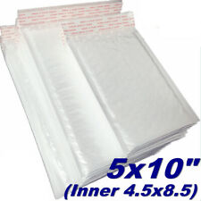 """3 Bag 4.5x8.5"""" Bubble Mailers Poly Mailer Padded Envelopes Bags White Shipping"""