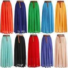 HOT !SALE! Women, Girls Chiffon pleated Long Maxi Skirt Vintage Dress Retro-Lng