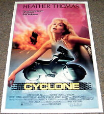 Fred Olen Ray's CYCLONE 1987 ORIGINAL MOVIE POSTER! SEXY HEATHER THOMAS SCI-FI!