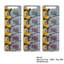 Maxell 395 SR927SW SR927 Silver Oxide Watch Batteries (15Pcs)