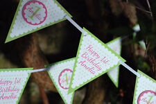PARTY BUNTING BANNER - KIDS HANDMADE PARTY BUNTING - ANY AGE ANY COLOUR - 3M