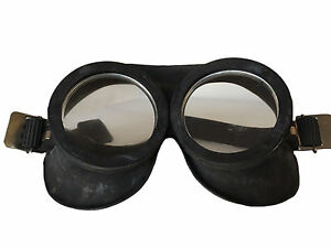 Rubber Goggles x 2 Prs Black Cold War Soviet Era Fetish Role Cosplay Adjustable