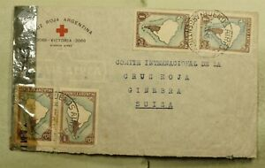 DR WHO 1945 ARGENTINA BUENOS AIRES TO SWITZERLAND CENSORED AIR MAIL C189247