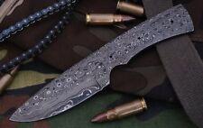 Custom Rain Drop Damascus Steel Drop Point Blank Blade A43 For Skinner Knife