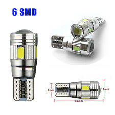 T10 6 SMD 501 W5W BOMBILLA Car LED Blanco Puro Lámpara Para Coche Parking Lamp