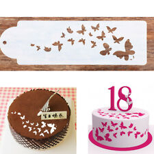 Lace Butterfly Cake Cookie Fondant Baking Wedding Stencil Decorating Craft Tool