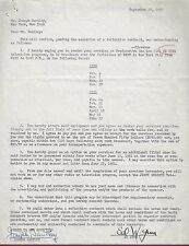 Ed Wynn, Comic Actor, Signed Television Contract, 1950, COA, UACC RD 036