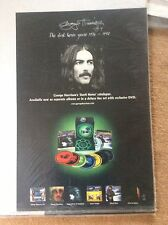 2 Sided 1992 George Harrison The Dark Horse Years Promo Music Poster Memorabilia