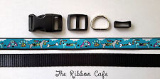 Dachshund dog collar kit 20mm buckles+webbing+ribbon included