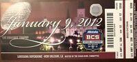 2012 BCS Bowl Championship Game Ticket ALABAMA CRIMSON TIDE vs LSU TIGERS