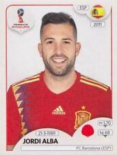 Panini Sticker Fußball WM 2018 Russia Nr. 135 Jordi Alba ESP Spain Bild NEU