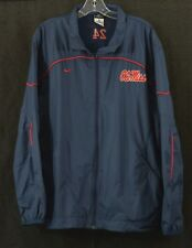 Team Issued NIKE OLE MISS Rebels Windbreaker Navy M - Ships FREE!!!