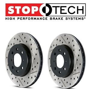 1 Pack Rear Right StopTech 127.40019R Sport Drilled//Slotted Brake Rotor
