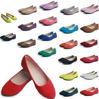 D66 Casual Women Flats Slippers Candy Colors Ladies Ballerina Microsuede Shoes