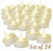 24Pcs Realistic LED Tea Light Fake Candles Flickering Flameless Battery Operated