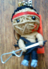 rambo (first blood) keyring voodoo doll sealed in packaging