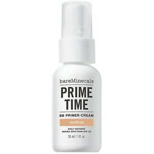 BareMinerals Prime Time BB Primer-Cream Daily Defense Spf 30 MEDIUM 1 oz 30ML