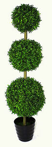 Realistic Foliage Potted Artificial X-Large 120cm Grass Topiary Tree New