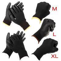 24 paires M/L/XL Gants de travail mécanicien palme Nylon Pu homme unisexe glove
