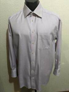 "ETON of Sweden ""Ghangster"" Light Purple w/ Pattern Cotton Dress Shirt  17.5 x 34"