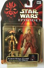 """Star Wars Action Figure of NABOO ROYAL GUARD With Bonus DIRTY PIT DROID 3.75"""""""