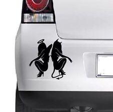 ANGEL & DEVIL Car Bumper Window Wall  Laptop JDM TUNING Decal Vinyl Sticker