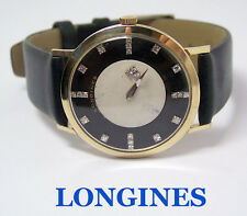 Vintage 14k LONGINES MYSTERY DIAL Mens Winding Watch Cal 23Z EXLNT* SERVICED