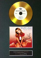 #139 BRITNEY SPEARS One More.. GOLD CD Signed Reproduction Autograph Mounted A4