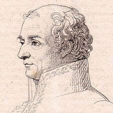 Portrait XIXe Jean-Antoine HOUDON Sculpteur Sculpture Versailles 1821