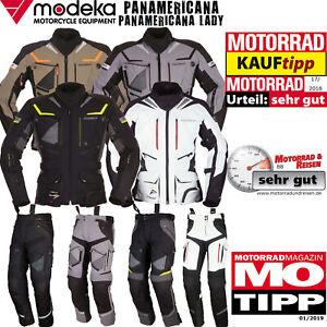 MODEKA PANAMERICANA Kollektion Jacke Hose für Herren Damen Motorrad Kombination