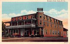 Postcard Worden's Hotel in Davis, West Virginia~116814