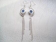 Hook Rhinestone Drop/Dangle Oval Costume Earrings