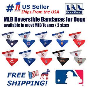 Pets First MLB Dog Bandana - Licensed, Reversible Pet Bandana  - 2 sided Bandana