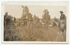 C.E.F. Soldiers resting during Exercises somewhere in Canada 1907-17 WW1 RPPC 6