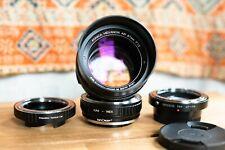 [EXC] Konica Hexanon AR 57mm f1.2 AE V2 lens CLA'd w Sony, Nikon, Leica adapters