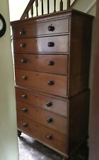 Large Antique Victorian mahogany tallboy Chest of Drawers