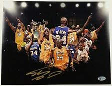 SHAQUILLE O'NEAL Signed 11x14 Photo LAKERS HOF Shaq Autograph w/ Beckett BAS COA