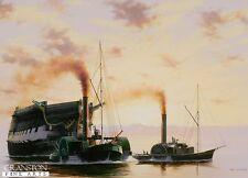 Naval art post card Battle of Trafalgar HMS Temeraire Nelson Age of Sail warship
