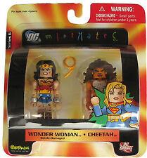 DC Universe MiniMates 6 Wonder Woman Battle-Dmg & Cheetah Action Figure 2pk DC