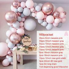 169Pcs/set Pink Balloon Arch Kit Set Birthday Wedding Baby Shower Garland Decor