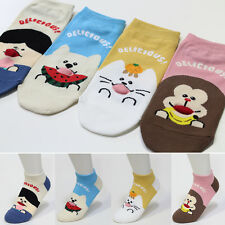 4 Pairs Funny Animal Socks Women Big Kids New Cute Character Socks MADE IN KOREA