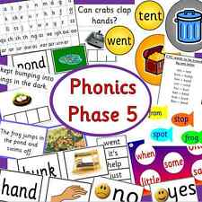 Phonics Phase 5 teaching resource pack on CD - Letters and Sounds EYFS, KS1