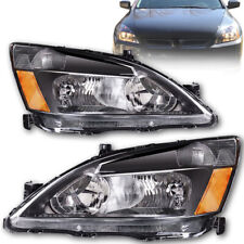 For 2003-2007 Honda Accord Headlights Signal Lamps Black Replacement