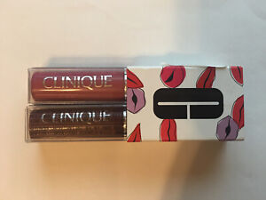CLINIQUE Almost Lipstick Black & Pink Honey Set 0.04 oz/1.2g EA NIB Mini Size