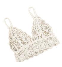 Women's Lace Floral Triangle Bralette Bralet Bra Bustier Crop Tops Unpadded LI