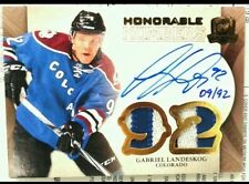 wOw!4clrs /92 GABRIEL LANDESKOG THE CUP HONORABLE NUMBERS PATCH AUTO 2011 11 12